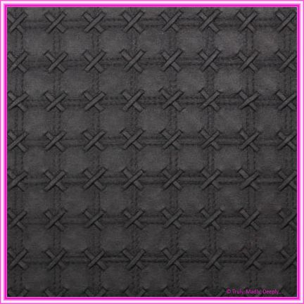 A4 Embossed Invitation Paper - Cross Stitch Black Pearl