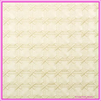 A4 Embossed Invitation Paper - Cross Stitch Ivory Pearl