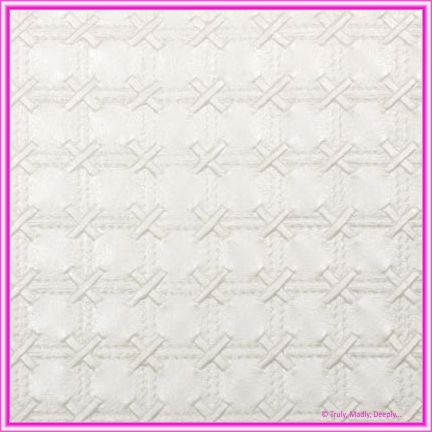 A4 Embossed Invitation Paper - Cross Stitch White Pearl