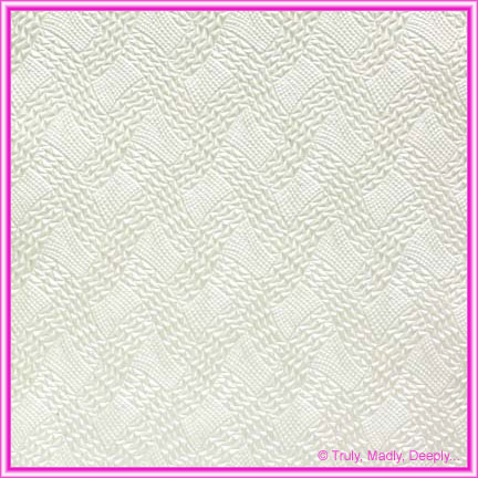 A4 Embossed Invitation Paper - Destiny White Pearl