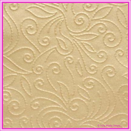 A4 Embossed Invitation Paper - Elyse Mink Pearl