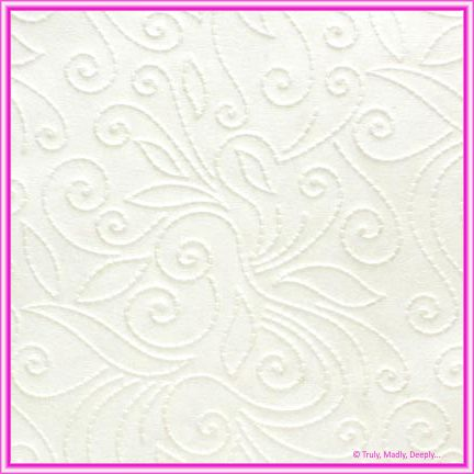 A4 Embossed Invitation Paper - Elyse White Pearl