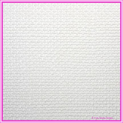 A4 Embossed Invitation Paper - Jute White Pearl