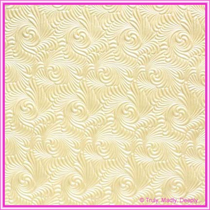 A4 Embossed Invitation Paper - Majestic Swirl Ivory Pearl