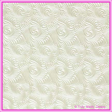 A4 Embossed Invitation Paper - Majestic Swirl White Pearl