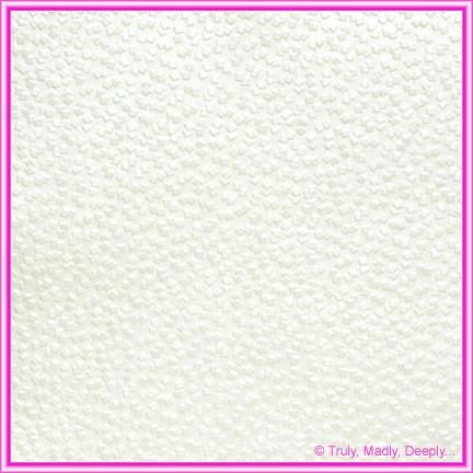 A4 Embossed Invitation Paper - Modena White Pearl