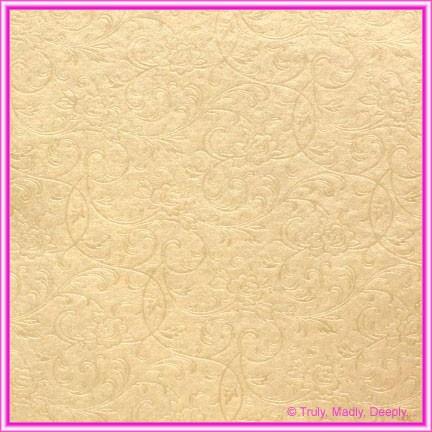 A4 Embossed Invitation Paper - Olivia Mink Pearl
