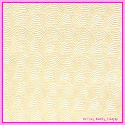 A4 Embossed Invitation Paper - Sea Breeze Ivory Pearl
