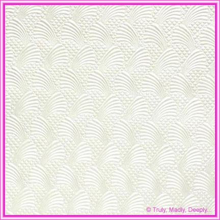 A4 Embossed Invitation Paper - Sea Breeze White Pearl