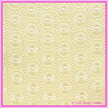 A4 Embossed Invitation Paper - Eternity Ivory Pearl