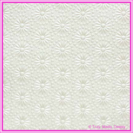 A4 Embossed Invitation Paper - Eternity White Pearl