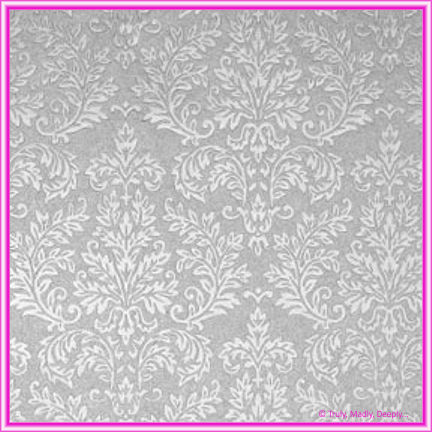 A4 Embossed Invitation Paper - Grace Silver Pearl