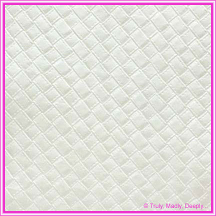 A4 Embossed Invitation Paper - Leatherette White Pearl