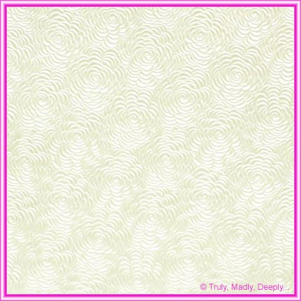 A4 Embossed Invitation Paper - Bouquet White Pearl
