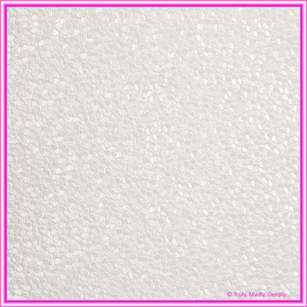 A4 Embossed Invitation Paper - Pebbles White Pearl
