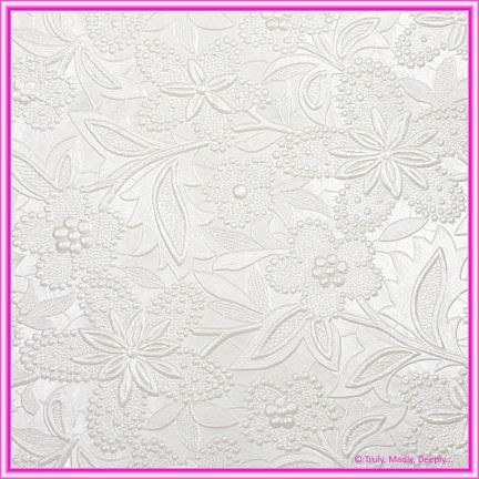 A4 Embossed Invitation Paper - Spring / Bloom White Pearl