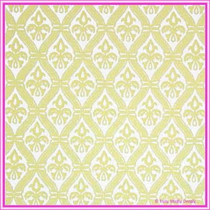 A4 Flocked Paper - Fleur Cream