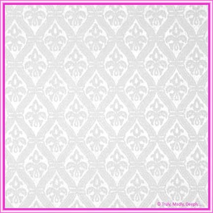 A4 Flocked Paper - Fleur White