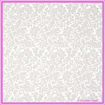 A4 Flocked Invitation Paper - Flourish Bridal White