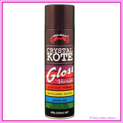 Helmar Crystal Kote Gloss Varnish Spray - 400g