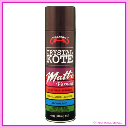 Helmar Crystal Kote Matte Varnish Spray - 400g