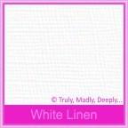 Knight White Linen 100gsm Matte - 160x160mm Square Envelopes