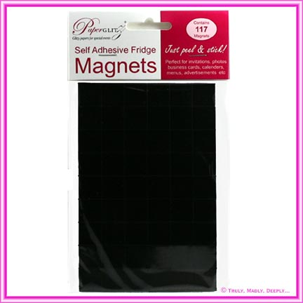 Self Adhesive Fridge Magnets - 117 Squares