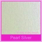 Metallic Pearl Silver 300gsm Metallic Card Stock - A4 Sheets