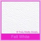 Mohawk Via Vellum Felt White 104gsm Matte - DL Envelopes