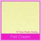 Wedding Cake Box - Mohawk Via Vellum Felt Cream (Matte)