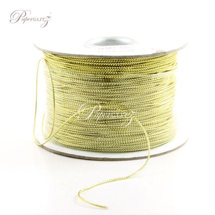 1mm String - 200Mtr Roll - Metallic Gold