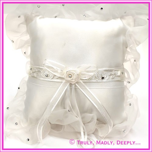 Wedding Ring Cushion - Rose