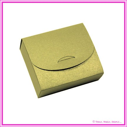 Bomboniere Purse Box - Crystal Perle Antique Gold (Metallic)