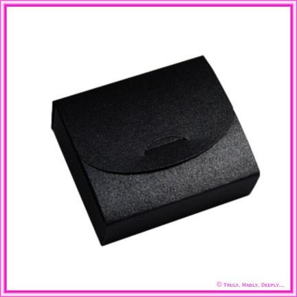 Bomboniere Purse Box - Crystal Perle Glittering Black (Metallic)