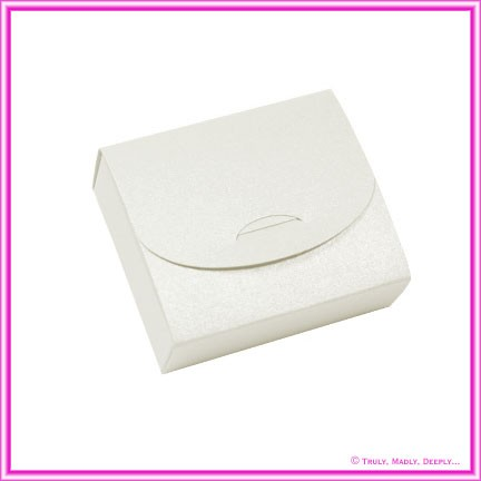 Bomboniere Purse Box - Metallic Pearl White