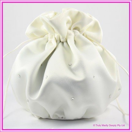 Wedding Bridal Bag - Ivory Diamantes