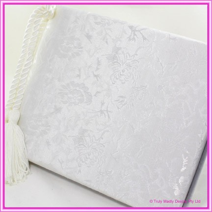 Wedding Guest Book - Embossed with Tassel