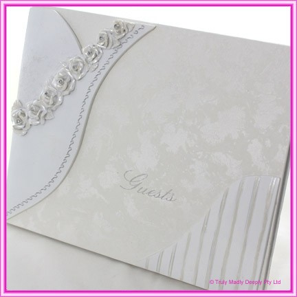 Wedding Guest Book - Roses