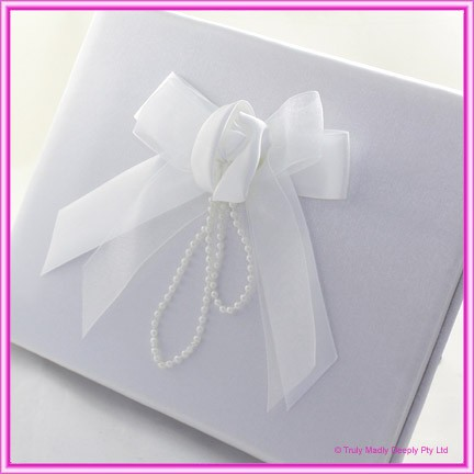 Wedding Guest Book - Satin Rose Pearl