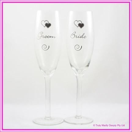 Wedding Toasting Glasses - Bride & Groom