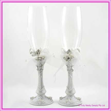 Wedding Toasting Glasses - Roses (W002GL)