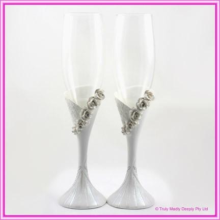 Wedding Toasting Glasses - Roses (W061GL)