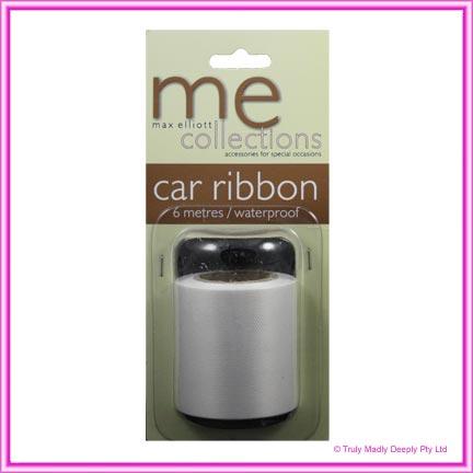 Wedding Car Ribbon 6Mtr - White