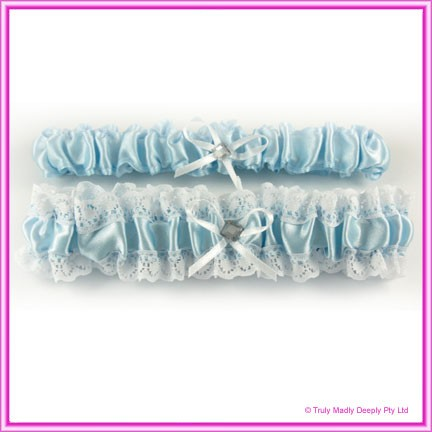 Wedding Garter - Blue Double Pack (Throw Away)