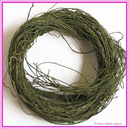 Artificial Vine Twig Bundle - Moss Green