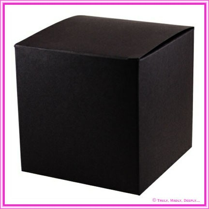 Bomboniere Box - 10cm Cube - Keaykolour Original Jet Black (Matte)