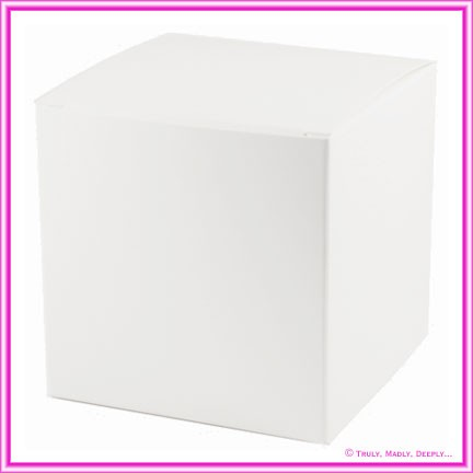 Bomboniere Box - 10cm Cube - Semi Gloss White