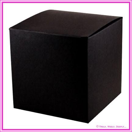 Bomboniere Box - 10cm Cube - Starblack Matte Black