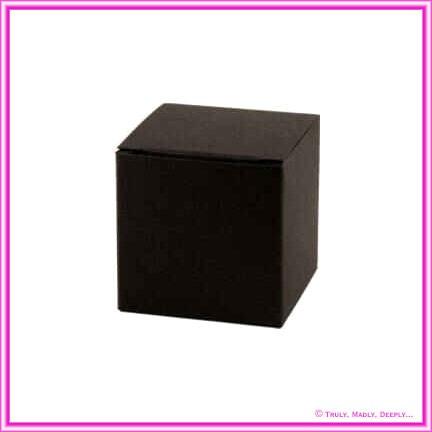 Bomboniere Box - 5cm Cube - Keaykolour Original Jet Black (Matte)