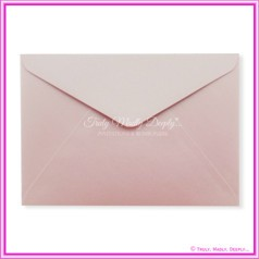 Crystal Perle Pastel Pink 125gsm Metallic - C5 Envelopes